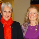 Madeline honored Joan Baez with the Courage of Conscience Award for her lifetime of activist involvement in the peace movement.