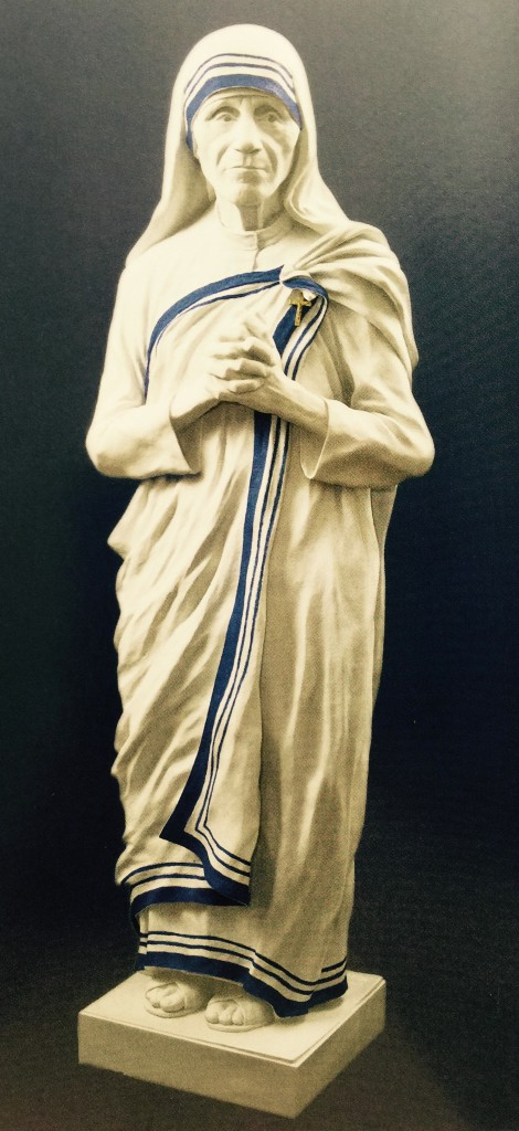 Life size marble statue of Mother Teresa
