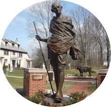 Gandhi Statue at Pacifist Memorial in Sherborn.