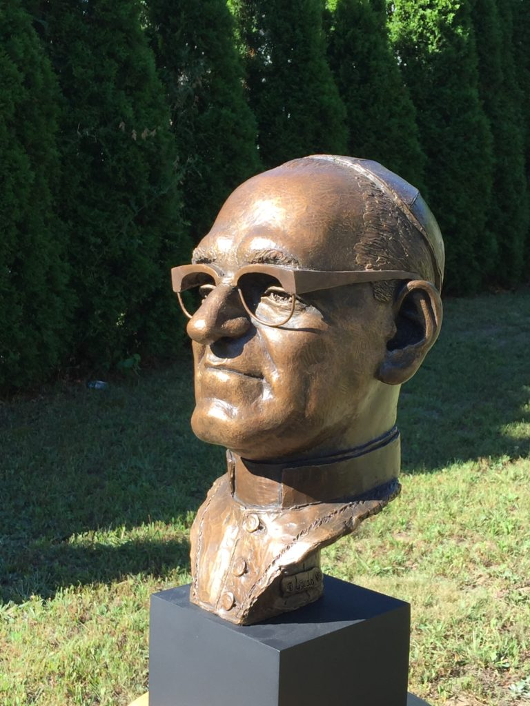 Bronze bust of Oscar Romero