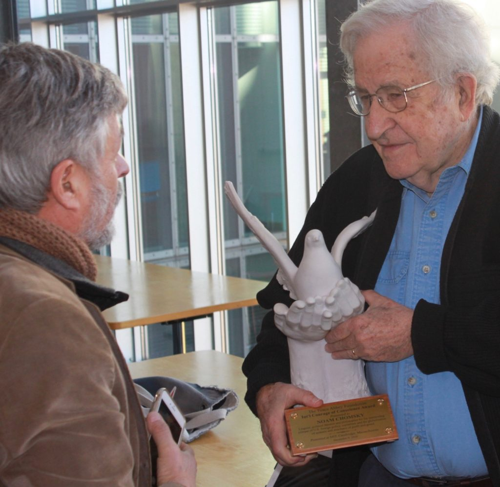 Noam Chomsky receives Courage of Conscience Award